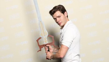 Dominic Sherwood with LEGO Soul Sword