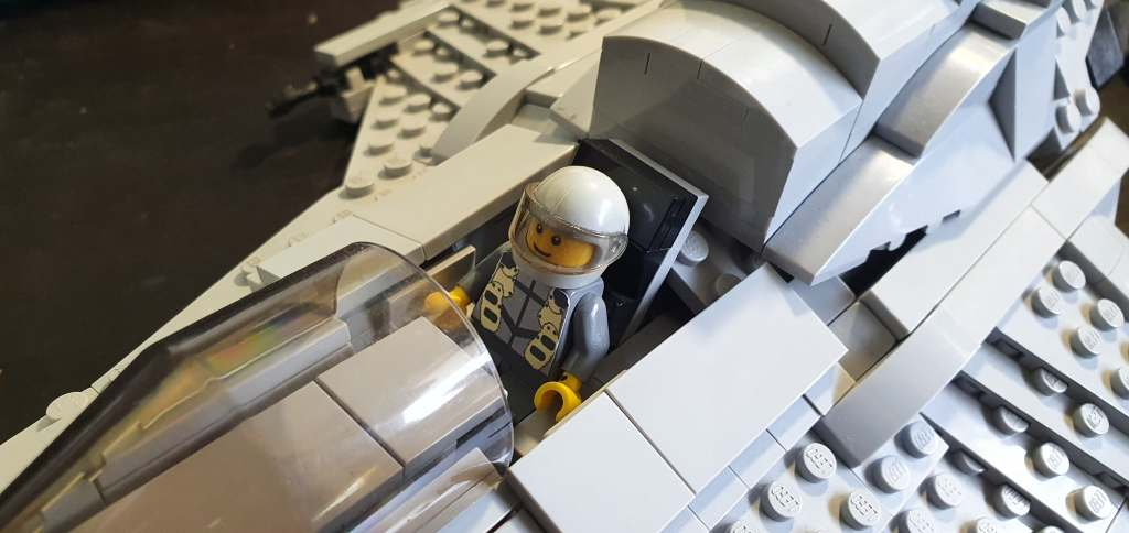 LEGO Battlestar Galactica Viper close up
