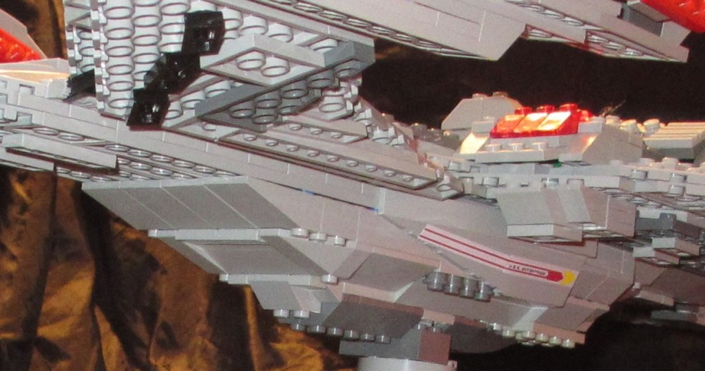 LEGO Star Trek USS Enterprise E close up