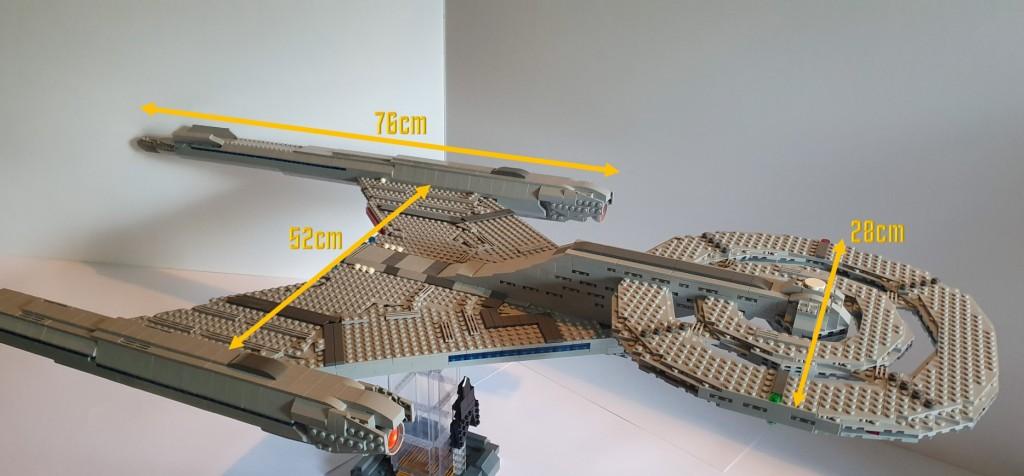 LEGO Star Trek USS Discovery Diagram